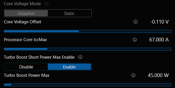 Intel XTU CPU Undervolt